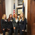 WV HOSA officers with Senator Capito